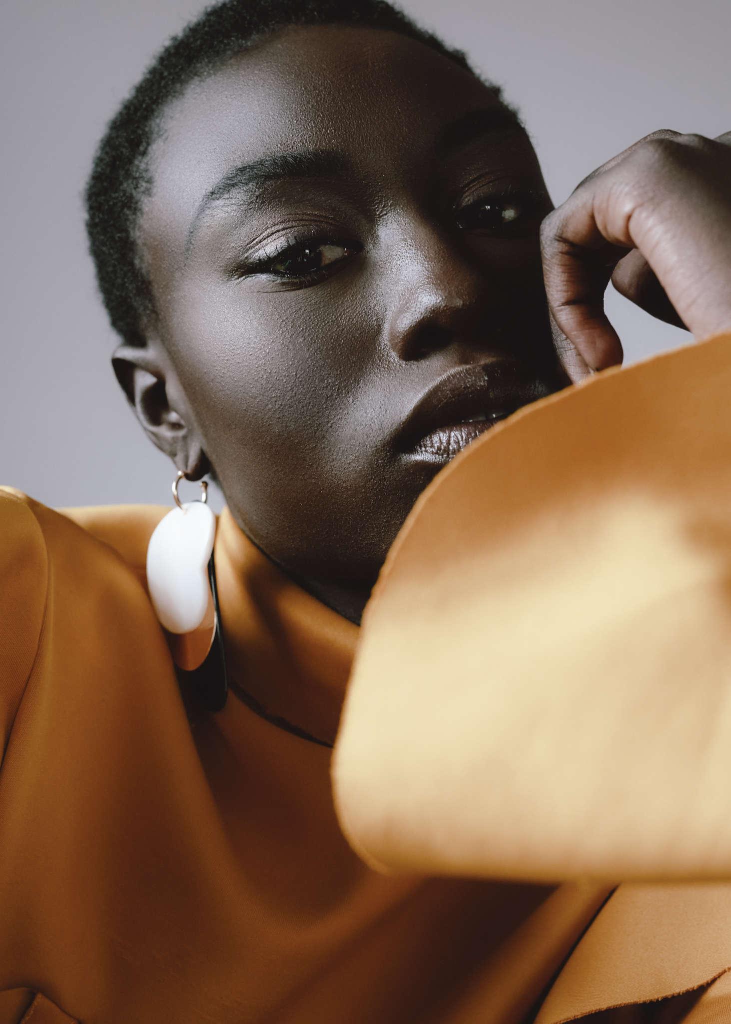 Rich Mnisi top, Zara earrings