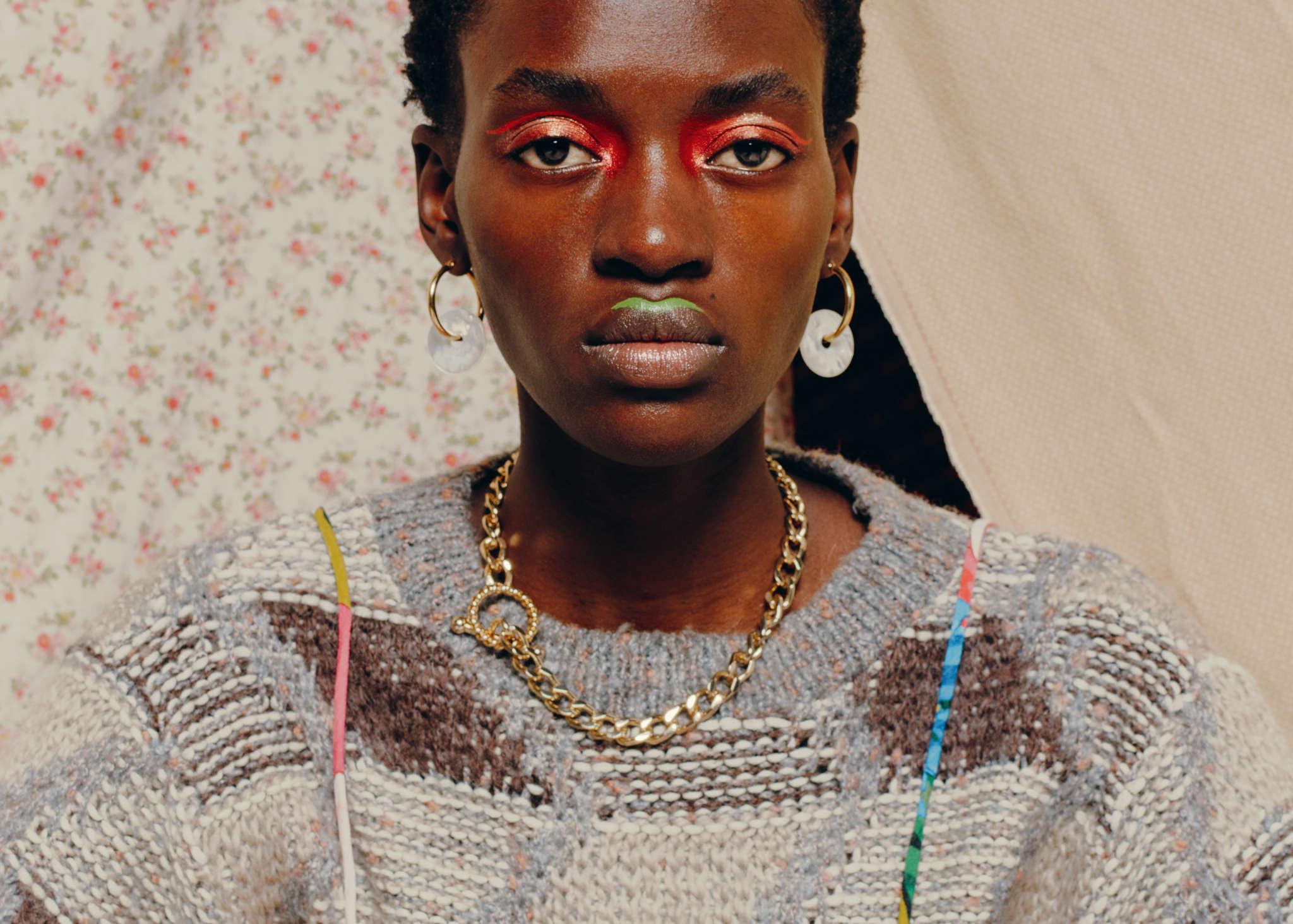 Rock It Vintage jumper, Mara Hoffmann dress, Rejina Pyo earrings