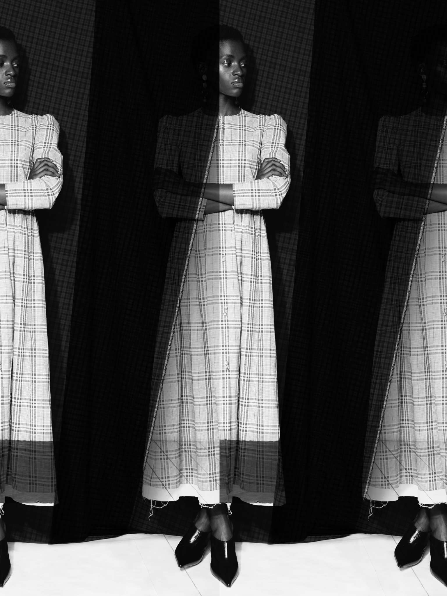 Rejina Pyo dress and shoes