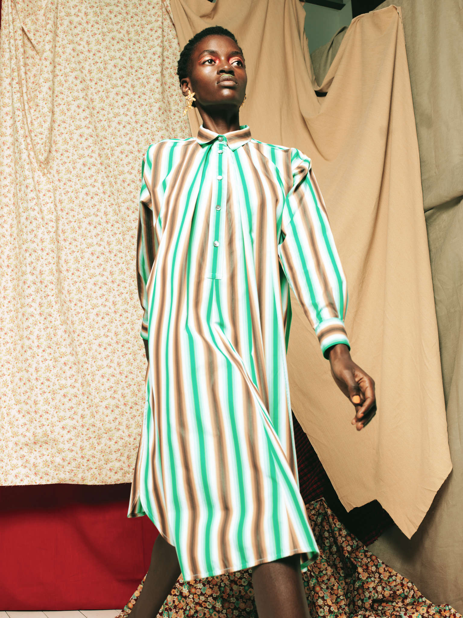 Marni dress, stylist's own earrings