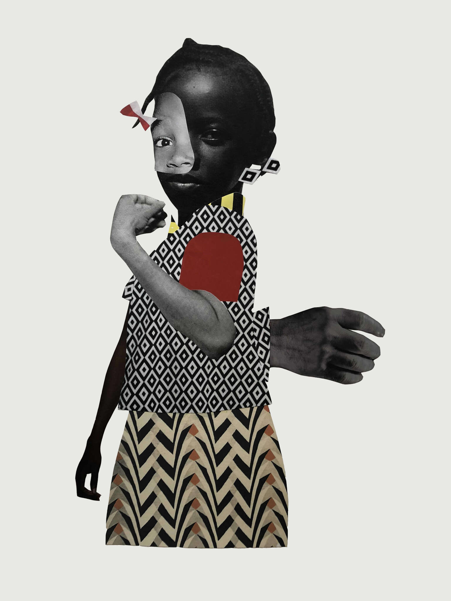 Deborah Roberts, 'Untitled 2018'. Copyright of the artist. Courtesy of Stephen Friedman Gallery