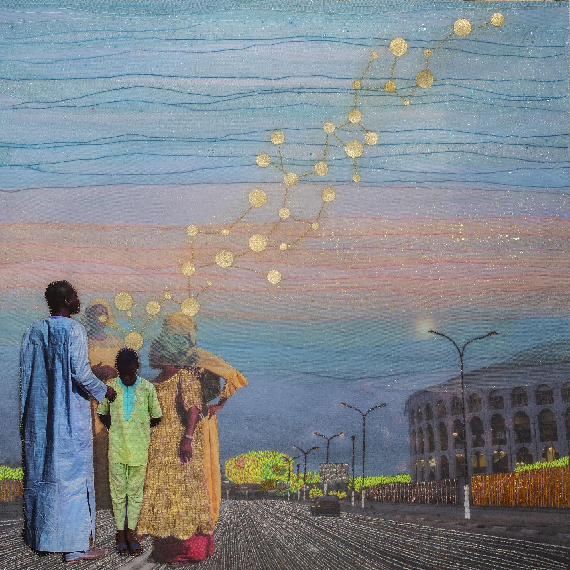 Joana Choumali, GREAT EXPECTATIONS (2019). Series ALBAHIAN, 80x80cm. Image copyright the artist and courtesy Gallery 1957, Accra