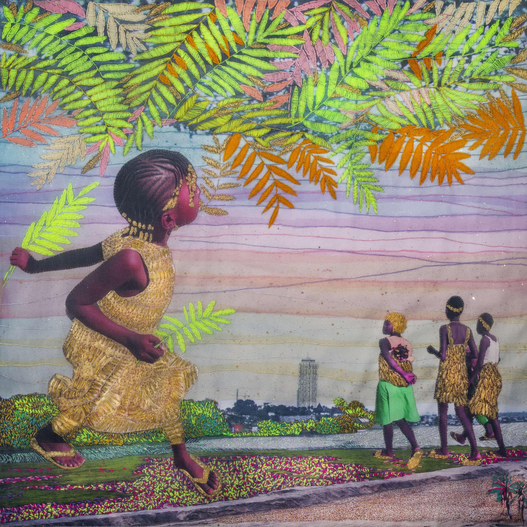 Joana Choumali, UNSAYING IT (2019). Series ALBAHIAN, 80x80cm. Image copyright the artist and courtesy Gallery 1957, Accra