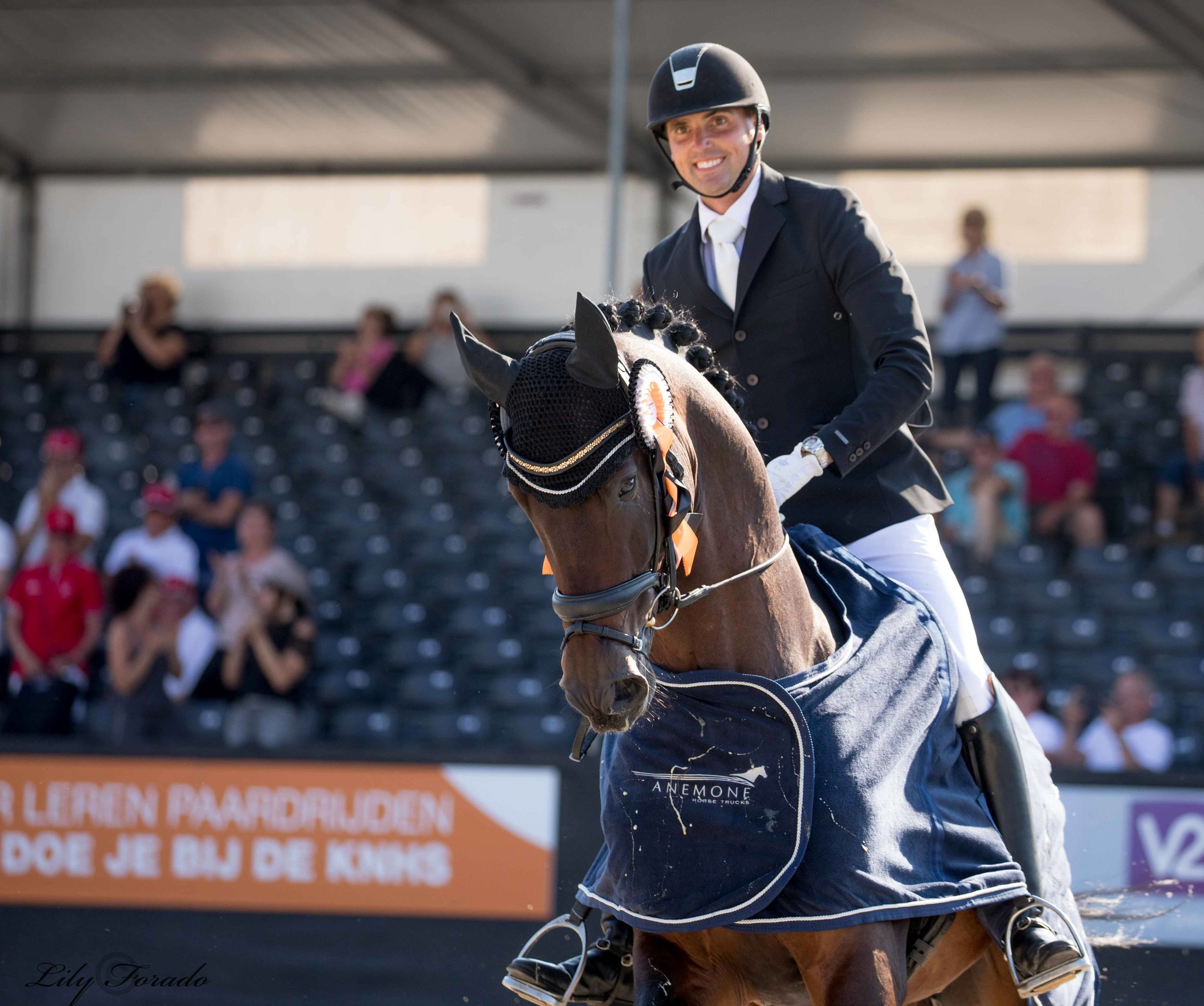 World Champion 5 year old horses Revolution and Andreas Helgstrand 2018 - photocredit: Lily Forado