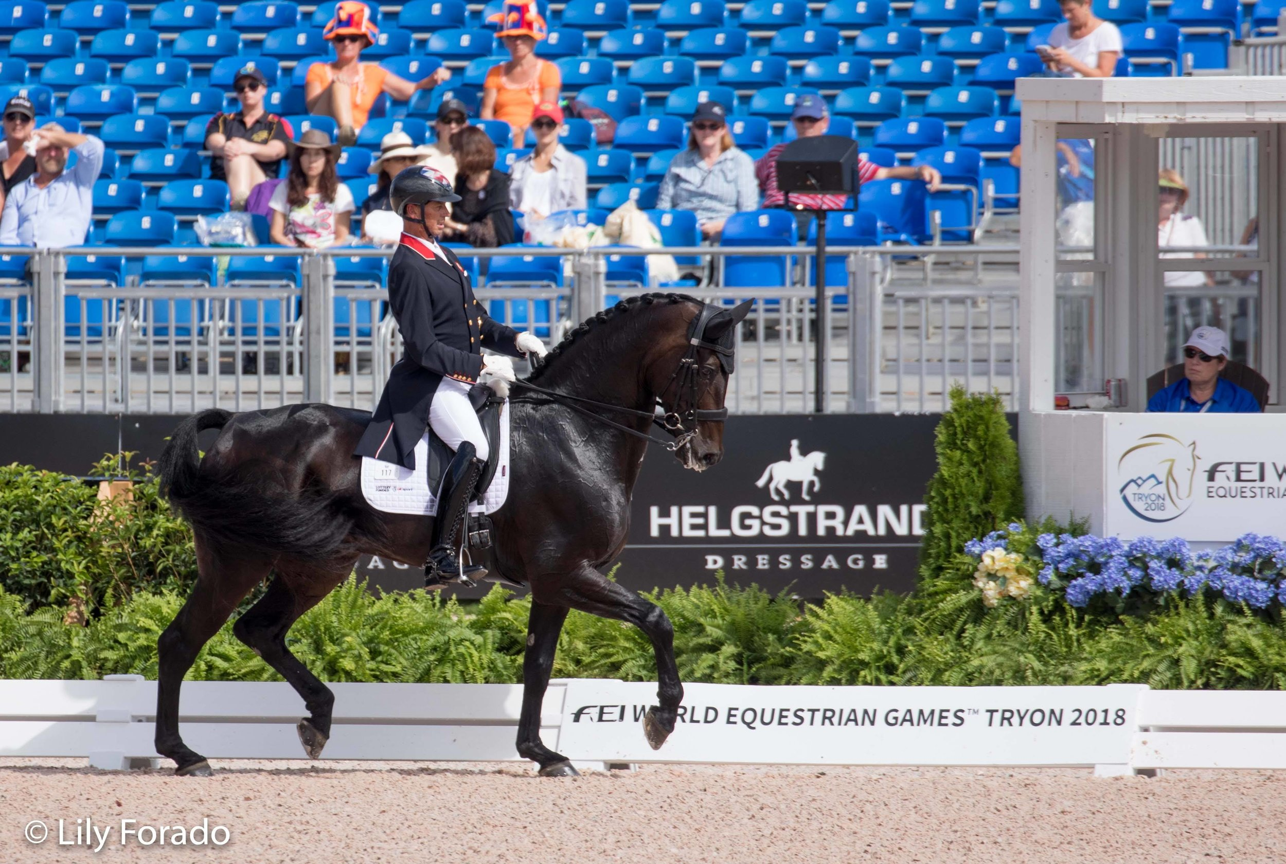 Hawtins Delicato and Carl Hester - photo credit: Lily Forado