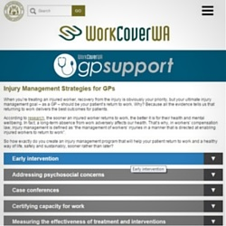 Check out our gpsupport website copywriting for WorkCover WA, the Western Australian government agency behind WA's workers' compensation scheme.