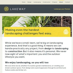 Dive in. Read some of our copywriter's work for Lakeway Landscapes in Perth.
