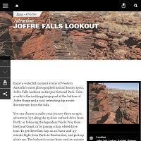 Click to read the Joffre Falls description.