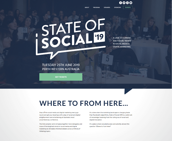 Click to take a look at some of our copywriters' work on the State of Social website.