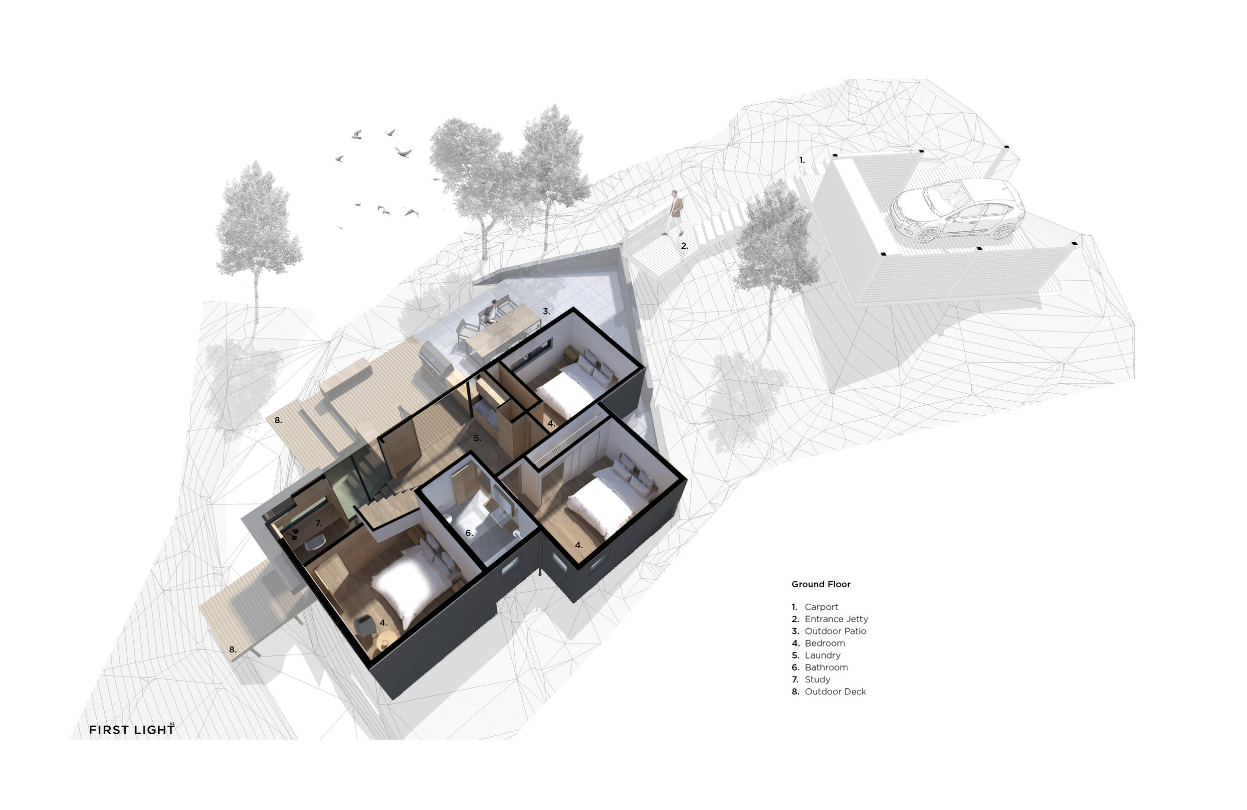 Perspective Plan - Ground Floor