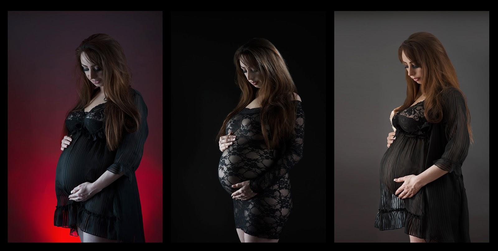 Maternity Pregnancy pregnant strobes off camera flash grey seemless backdrop back light low key high contrast Lee Ramsden