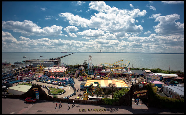 Southend fairground amusement park pier sunshine.jpg