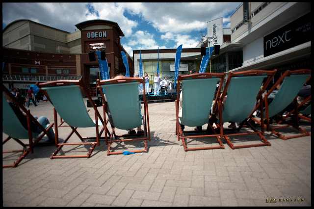 Southend Next deck chairs relaxing enjoying the music