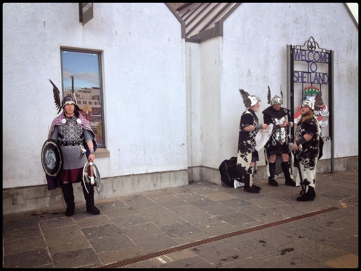 uphelia festival shetland Welcome to Shetland vikings Lerwick Festival of light local inhabitant dress history shield axe sword cow hide wings helmet