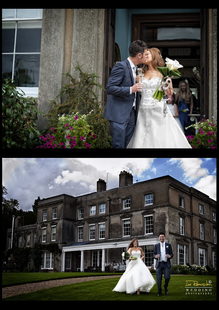 James Gemma Hert wedding posing for photos outside
