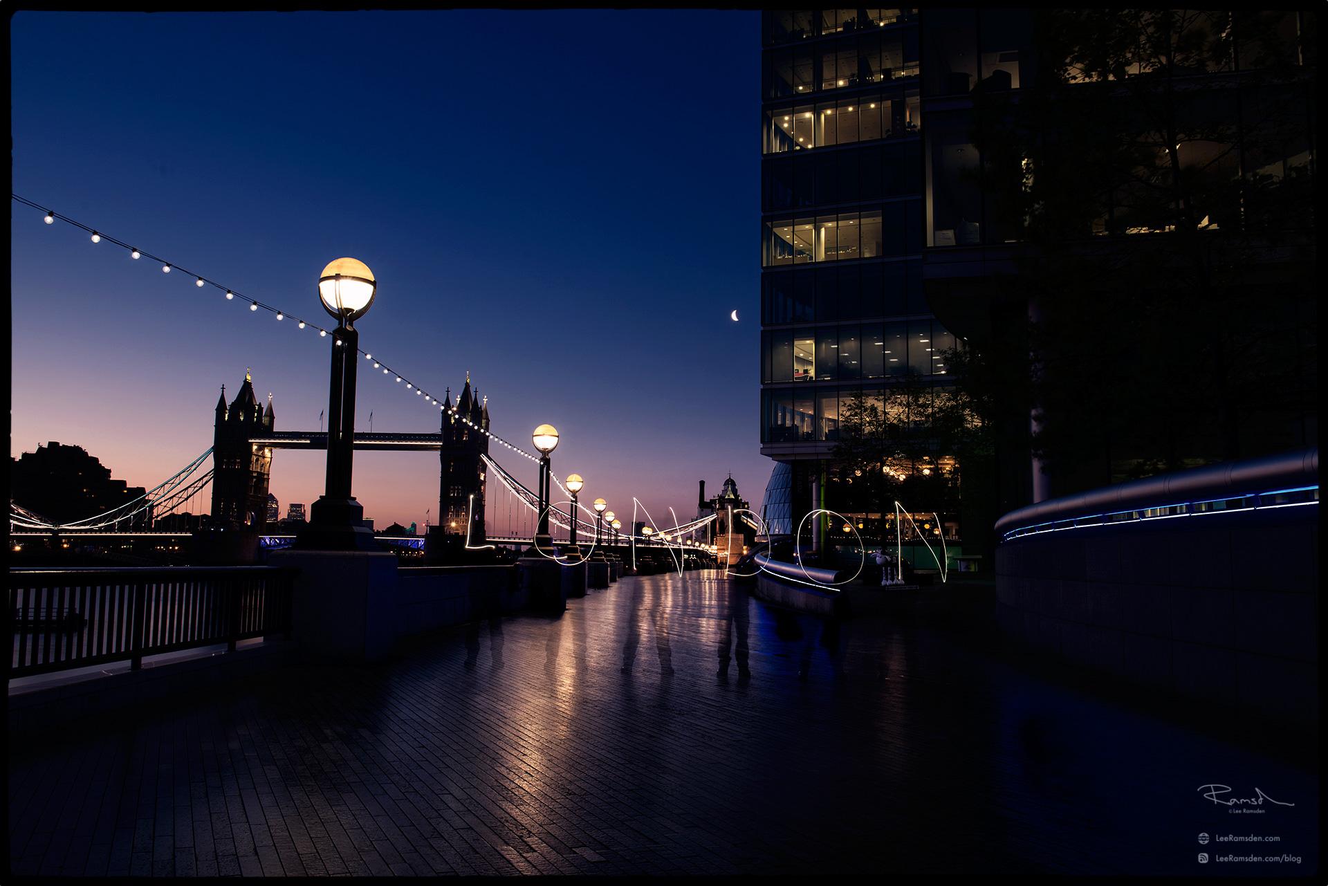 "<img src=""London.jpg"" alt=""London moreLondon tower bridge river Thames long exposure writing office buildings street lighting Lee Ramsden"">"