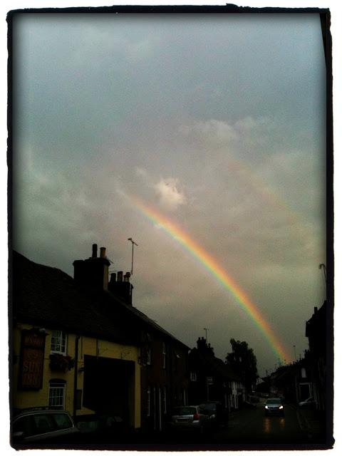 iPhone 3Gs rainbow over Markyate Hertfordshire