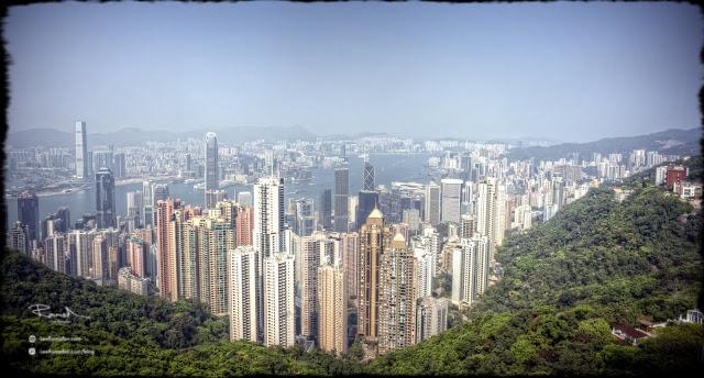 Hong Kong view of the city