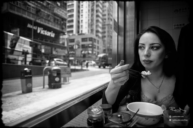 Hong Kong Kelly Moss Ramsden eating noodles