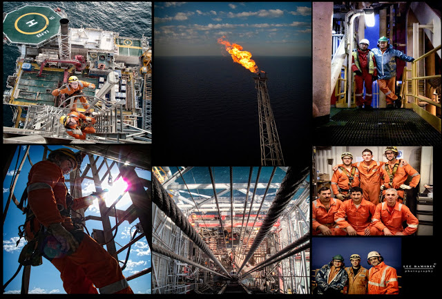 Azerbaijan IRATA industrial rope access Caspian sea SKN workers drilling helideck James Stewart