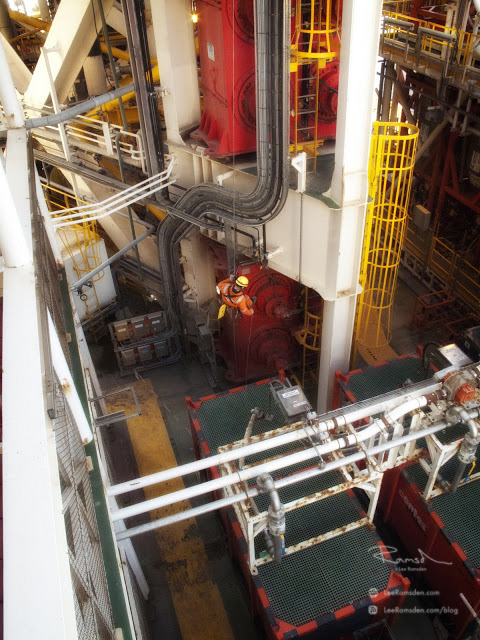 Azerbaijan IRATA industrial rope access Caspian sea abseiling offshore oil rig Shardeniz