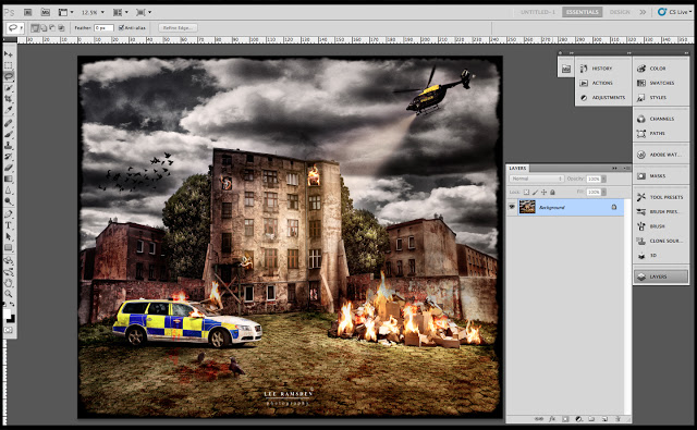 Police Composite photoshop blend modes