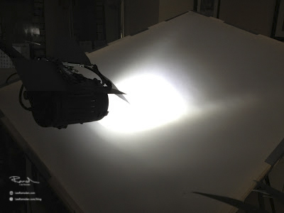 Product photography continious lighting through home made scrim