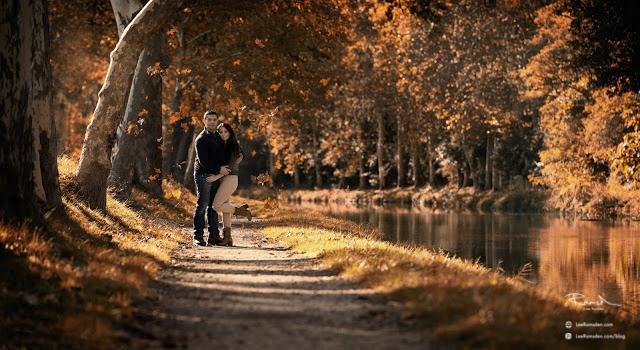 Carcassonne France lover on romantic walk