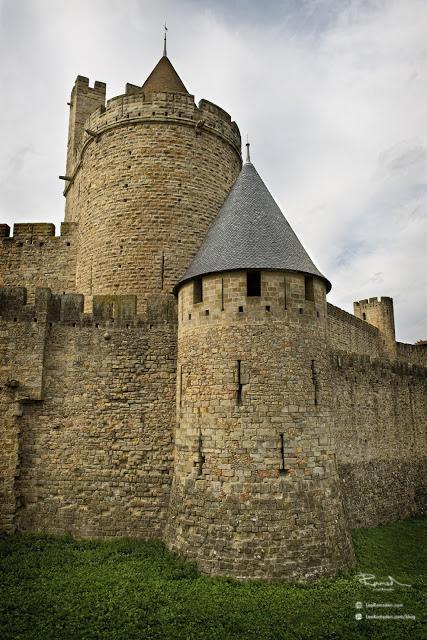Carcassonne castle for tourists