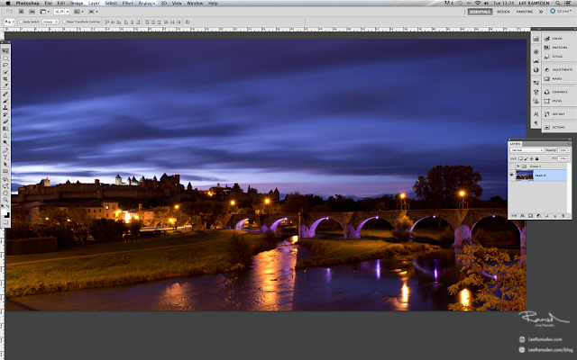 Carcassonne France, Photo Photograph photoshop layers how to edit