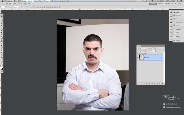 Bearded Lee Ramsden photoshop tutorial layers