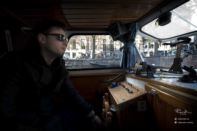 Amsterdam canal boat captain