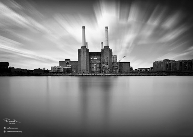 Battersea Power Station Long exposure clouds