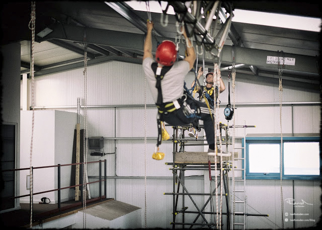 IRATA industrial rope access ropes climbing Blackpool Training TALLON TALON NDT Harness offshore oil and gas north sea 01