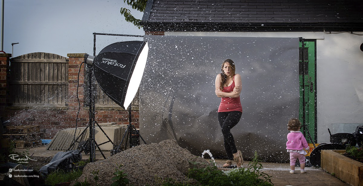 lee ramsden, behind the scene off camera lighting elinchrom rotalux deep octa
