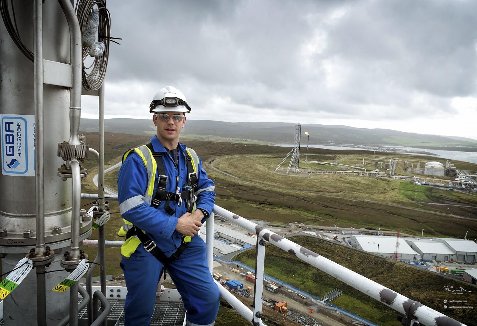 Shetland gas plant construction, building Voe Sullom Total Petrofac contractor, laggan tormore