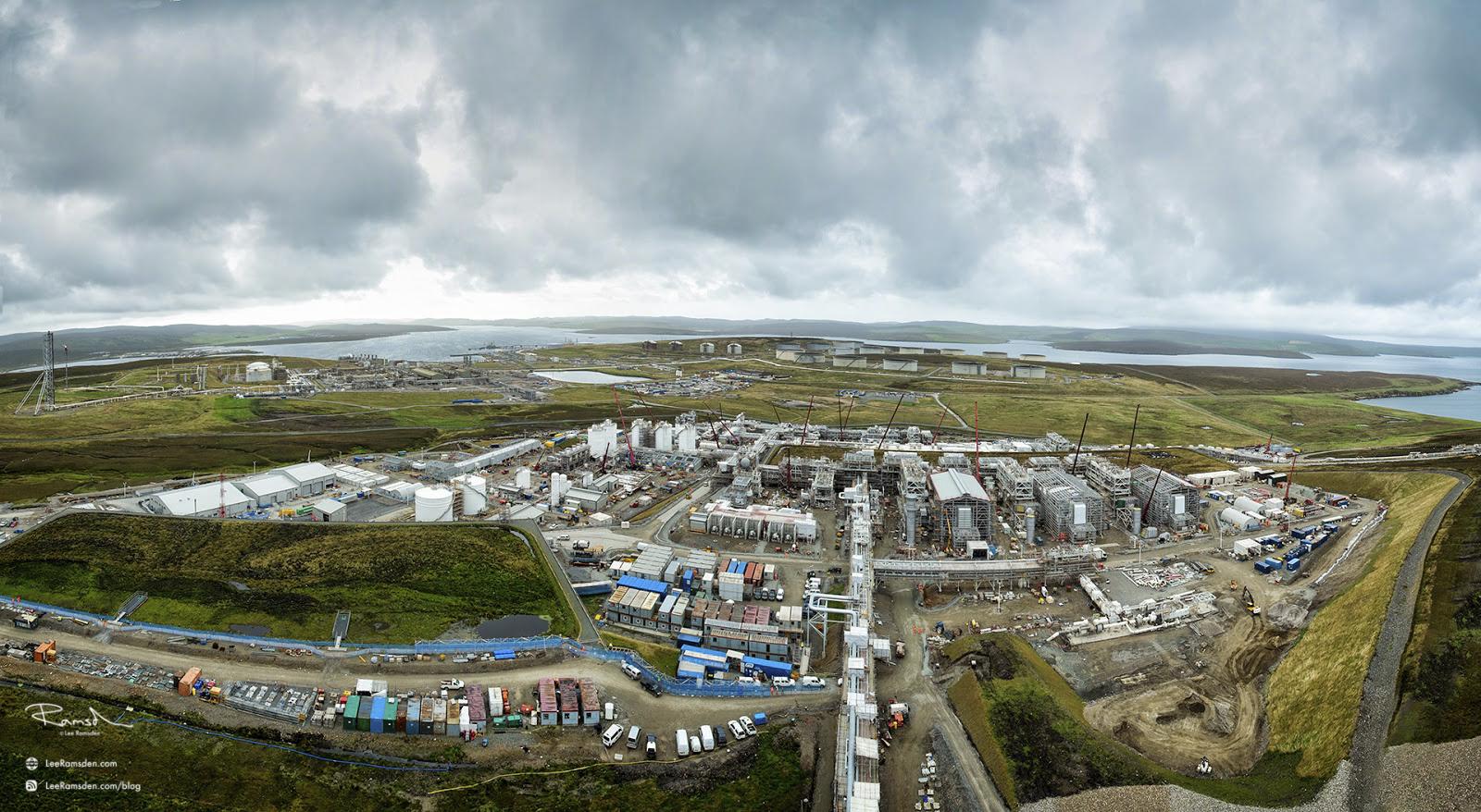 Shetland gas plant construction Sullom Voe Total Petrofac contractor laggan tormore