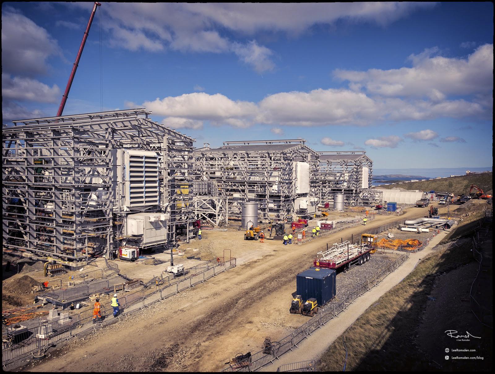Shetland gas plant construction gas compression building