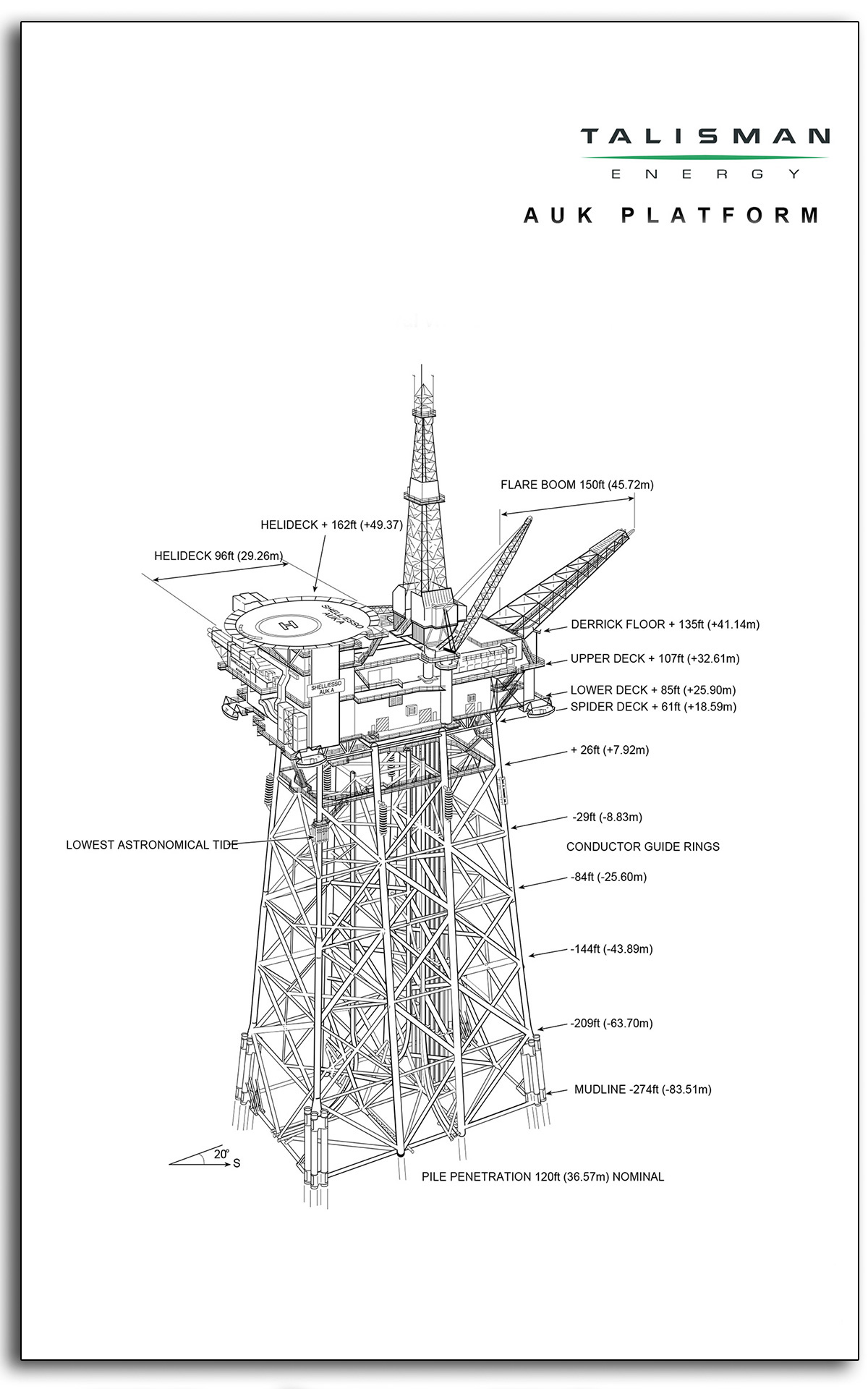 13 Talisman Auk north sea oil and gas platform plans drawing