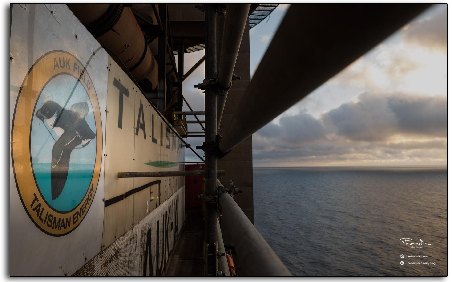 02 Talisman AUK sea bird north oil gas rig workers rotation exploration drilling platform Aberdeen
