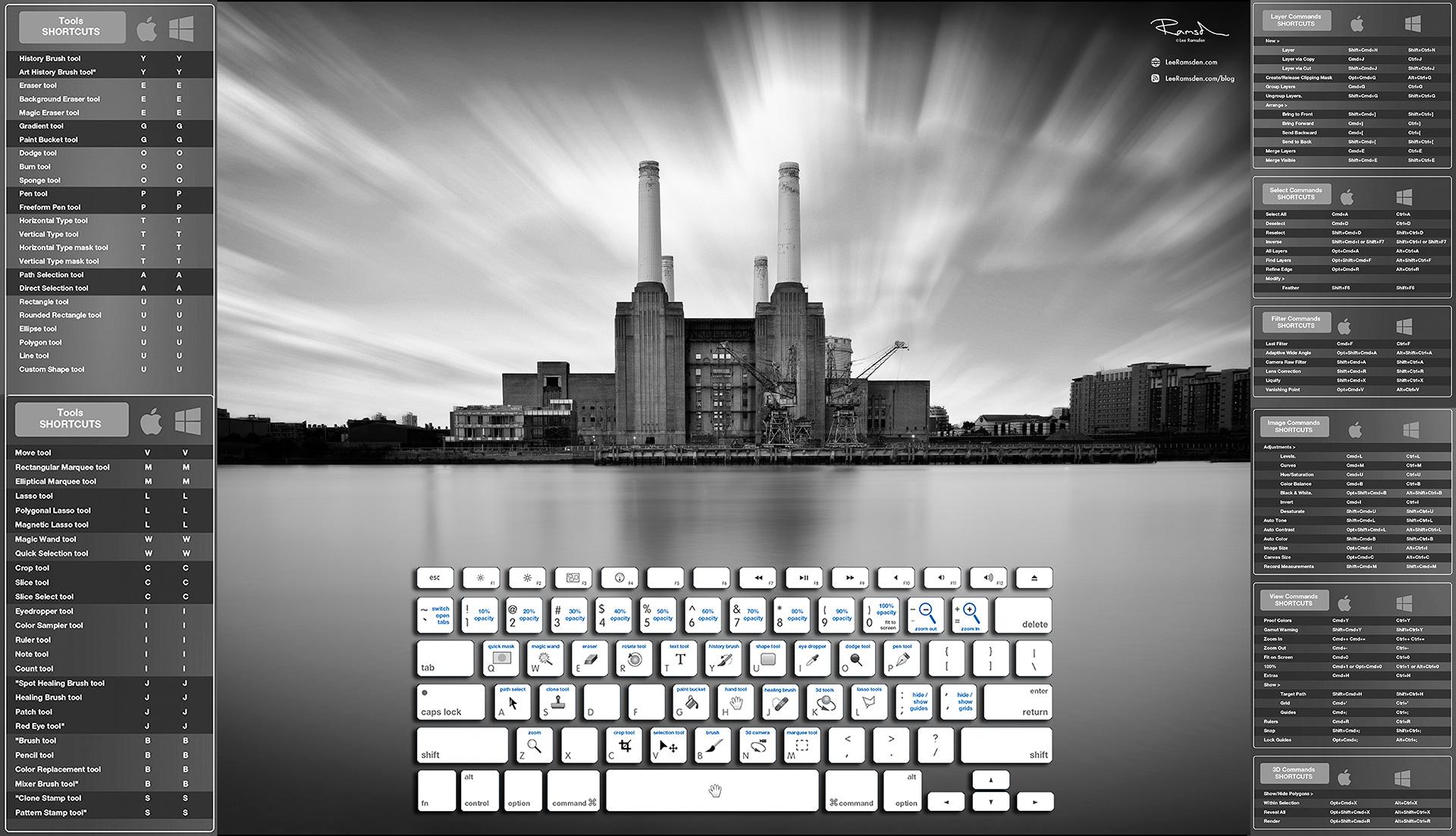 London Battersea power station photoshop short cuts education help tutorial Lee Ramsden