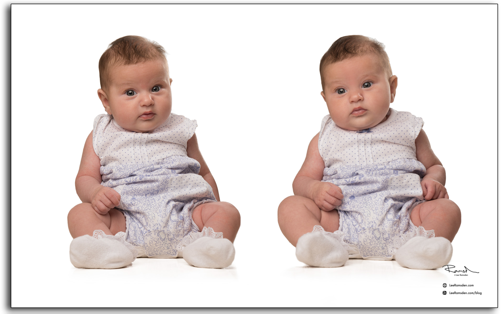 Tillie Peach professional photographer on white background