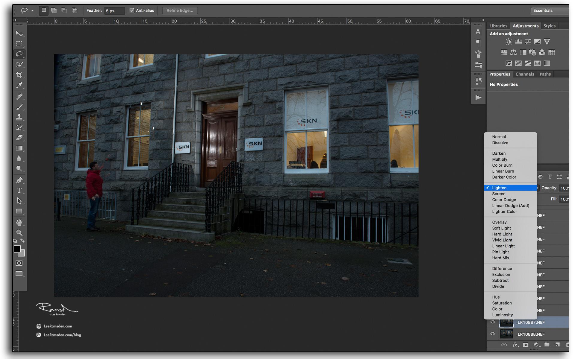 06 using lighten blend mode in photoshop CC