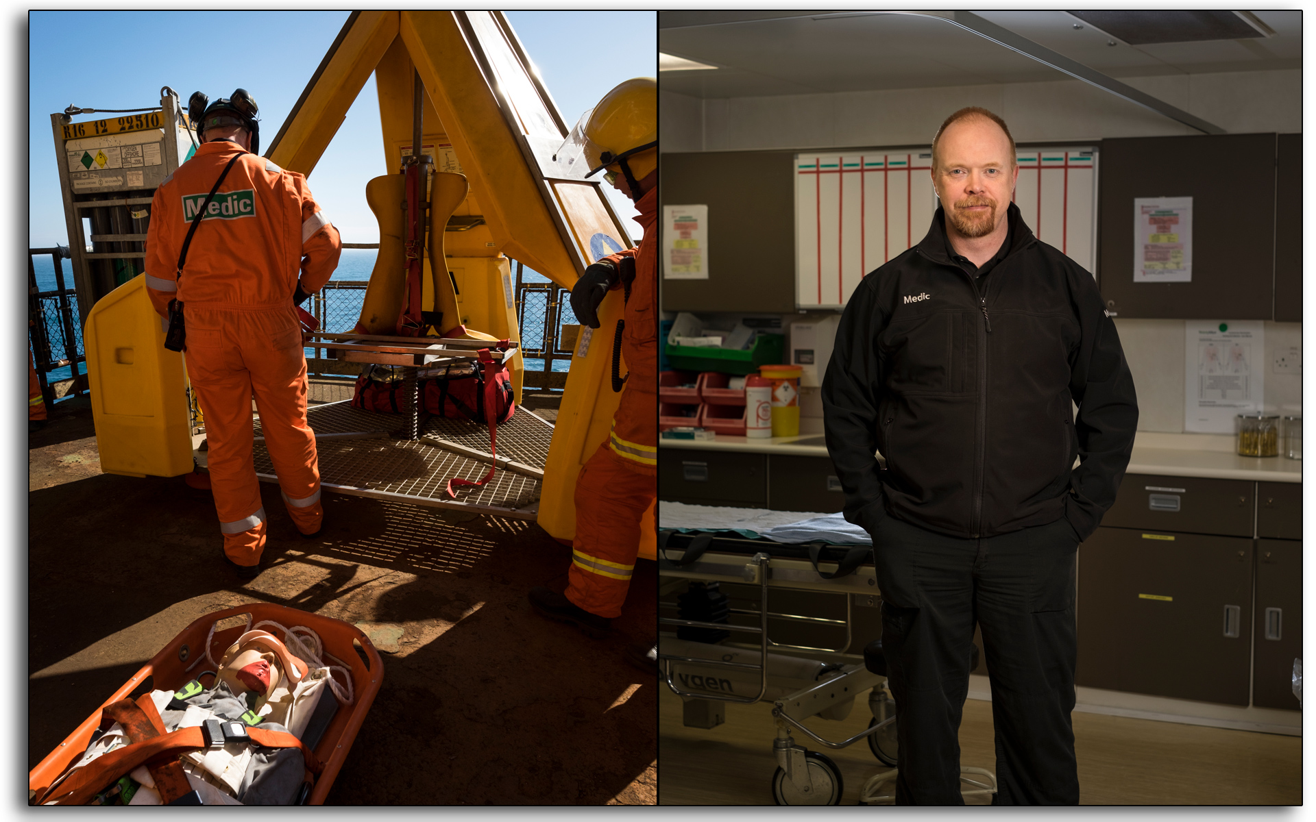 Medic, oil and gas industry, Andrew Macdonald, sickbay, medcenter, photo by Lee Ramsden,.jpg