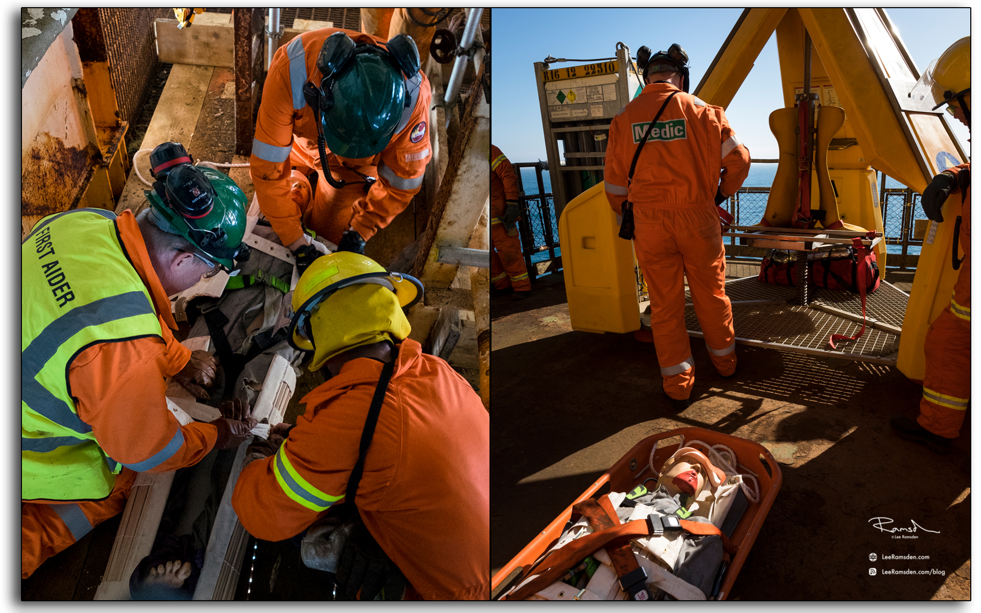 Blog, fireteam, emergency response, firstaider first aid, medic, north sea, photo by Lee Ramsden