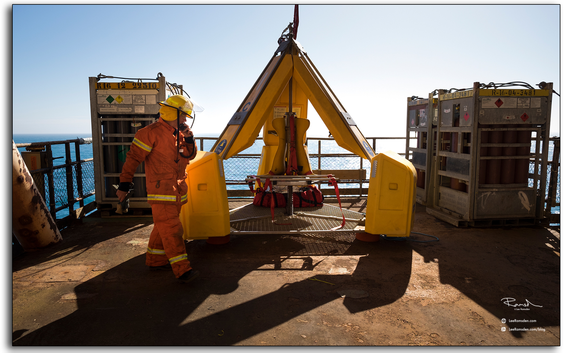 Blog, fireteam, emergency response, frog personnel transfer, north sea, photo by Lee Ramsden