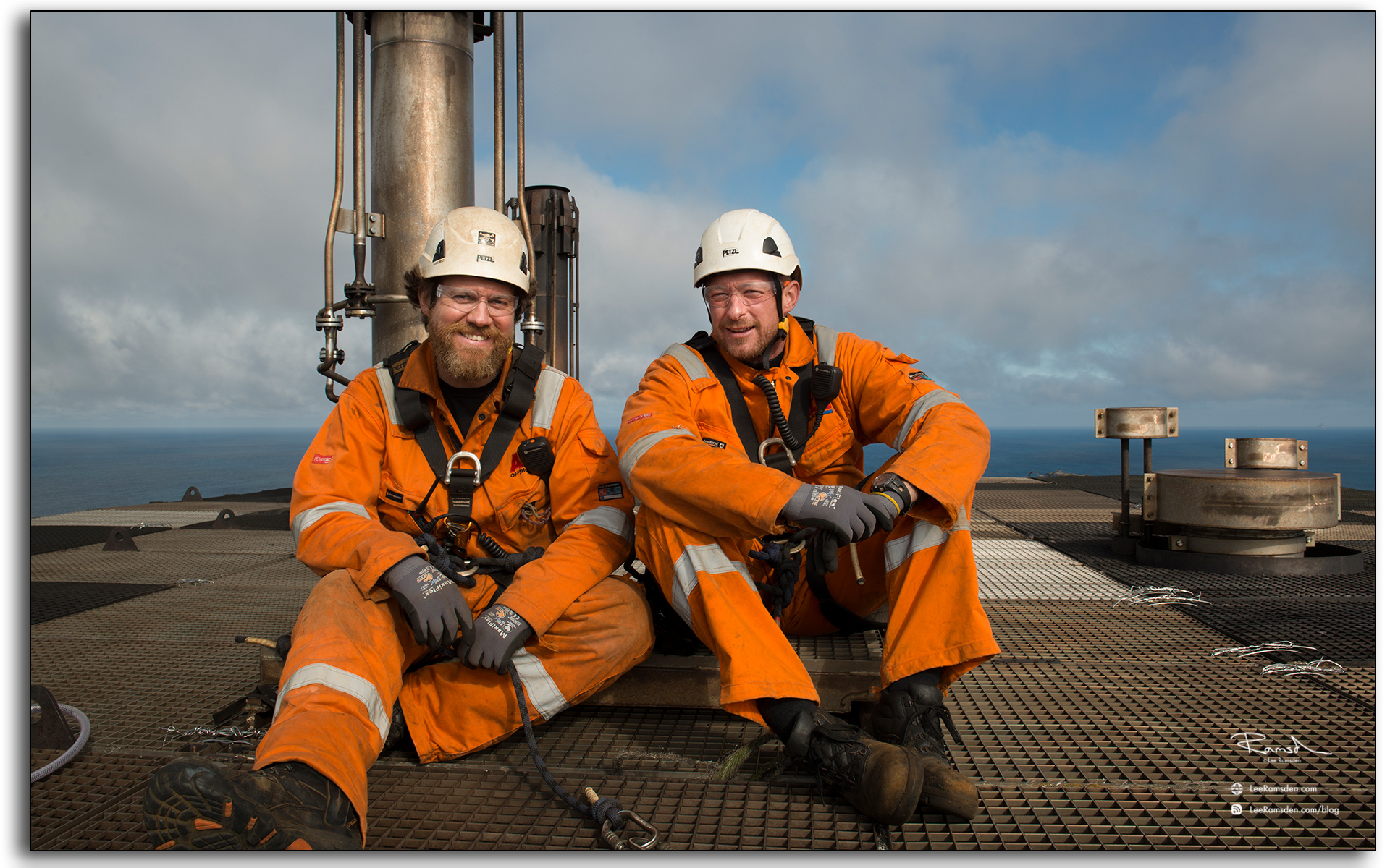 blog, Flare view, rope access, IRATA, industiral, technicians, top of BP Miller, danny king, Petrofac, BP, Saipem, ACN, Steve thorogood, Lee Ramsden, photographer, photography.