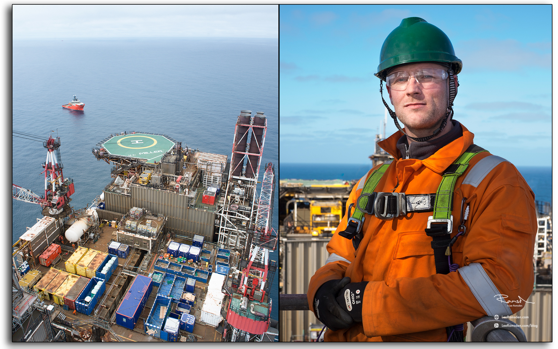 blog, Scaffodler, Mark Wilson, Marc Wilson, Brand energy, ACN, oil and gas industry, portrait, portrature, selfie, BP Miller, oil and gas rig, Petrofac, BP