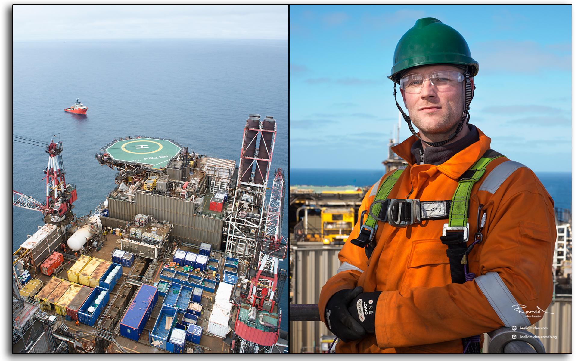blog, Scaffodler, Mark Wilson, Marc Wilson, Brand energy, ACN, oil and gas industry, portrait, portrature, selfie, BP Miller, oil and gas rig, Petrofac, BP