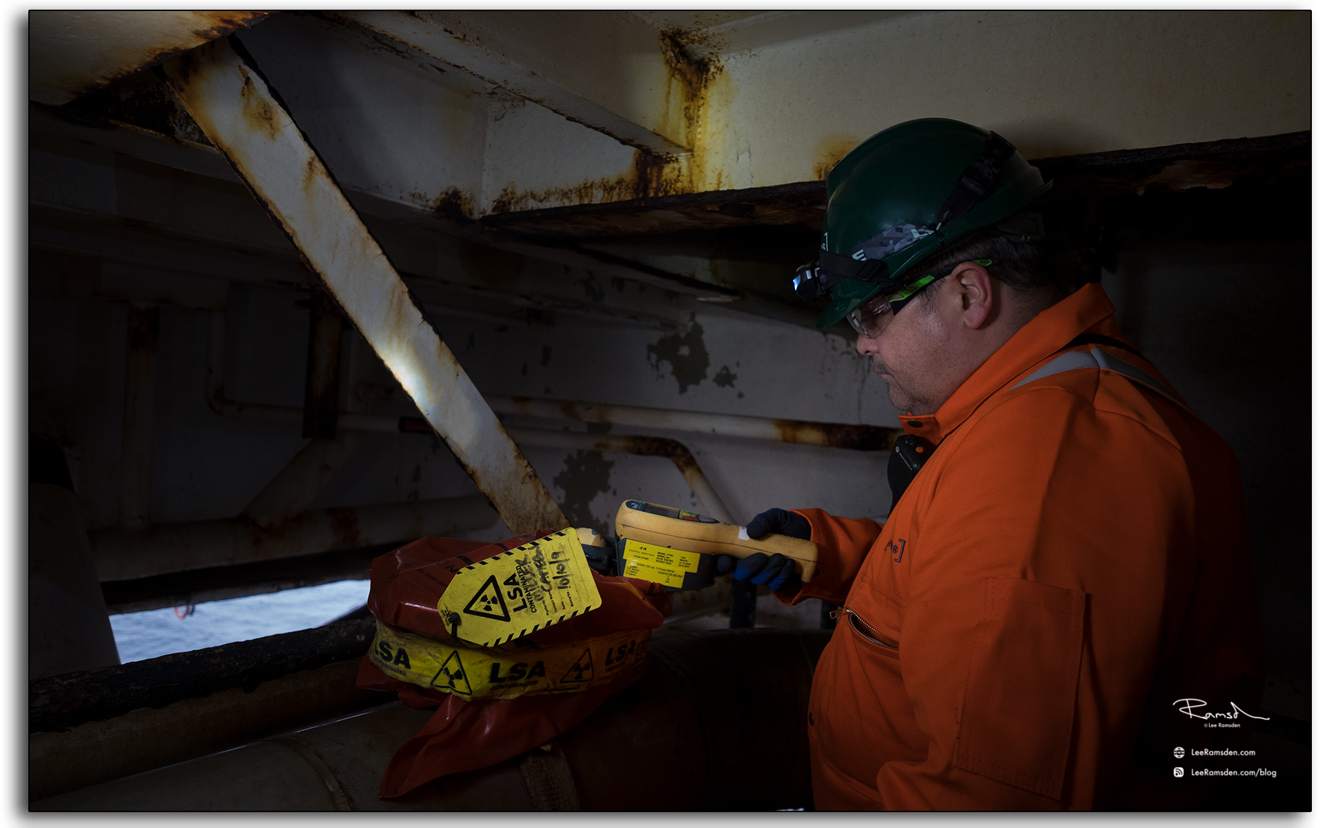 radiation, protection, supervisor, Geiger counter, dector, measuring, NORM, scale, counts, above background, oil and gas, industry, north sea